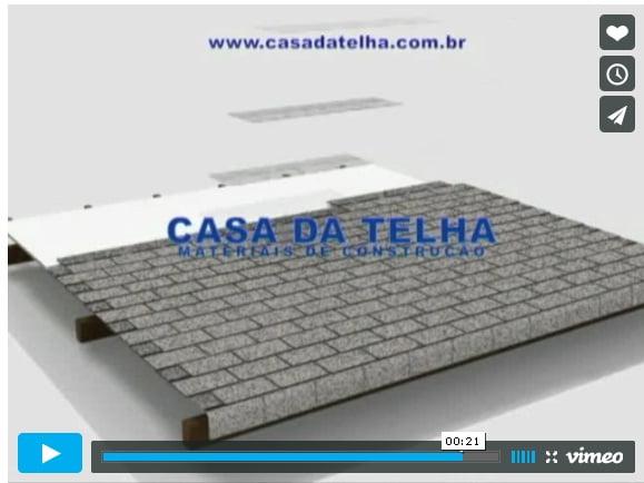 Animações 3d mostram a montagem de telhados