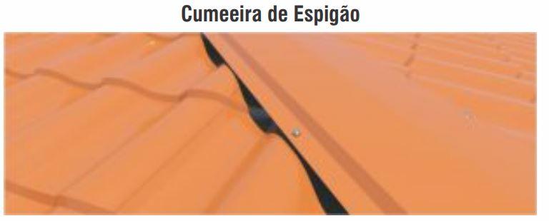 isotelha colonial poliuretano PU PIR acabamento espigão