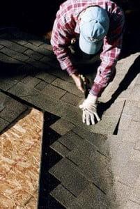 montagem de telhas shingle foto rincão ou agua furtada