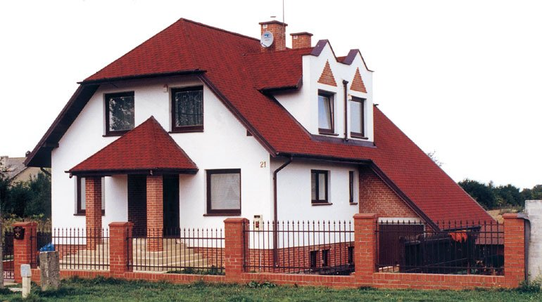 casa com telha shingle germânica estilo chalé