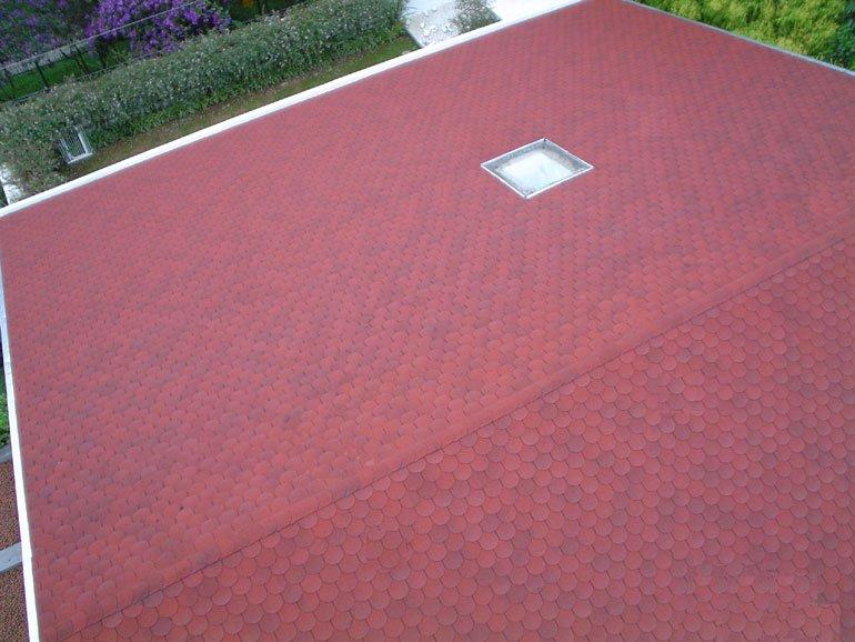 telhas shingle germânica cor vermelha