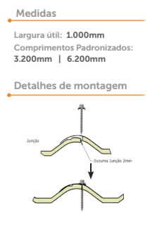 termo wave Medidas e detalhes da montagem