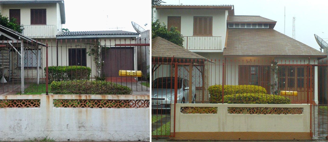 Casa de 40 anos ganha nova fachada com telhado Shingle
